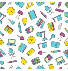 seamless pattern with icons set of vector image