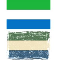 Sierra Leone grunge flag vector