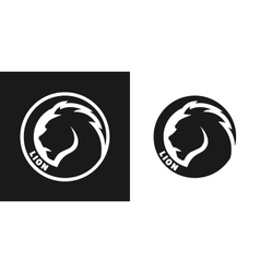 Silhouette of an lion monochrome logo vector image