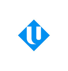 square up arrow logo vector image