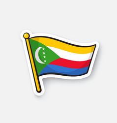 Sticker national flag comoros vector
