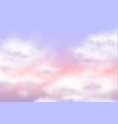 sugar cotton pink clouds design background vector image