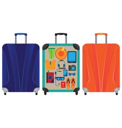Suitcase for travel and vacation vector image