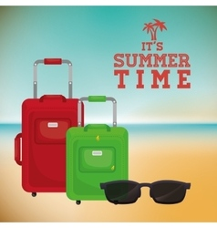 Sumer time design vector