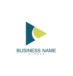 triangle swirl business logo vector image