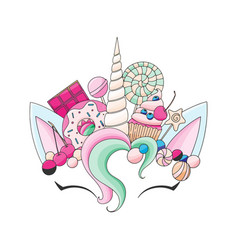 Unicorn cute vector