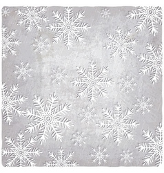 Vintage background with cutout paper snowflakes vector