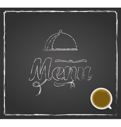vintage chalkboard menu design vector image