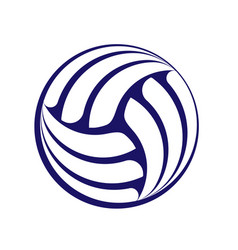 volleyball dark silhouette vector image