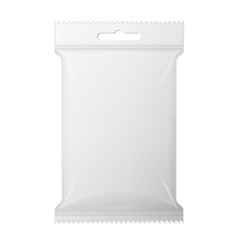 White wet wipes package with flap isolated vector
