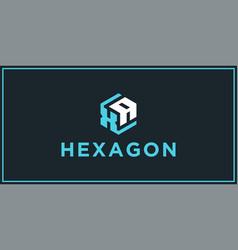 Xa hexagon logo design inspiration vector