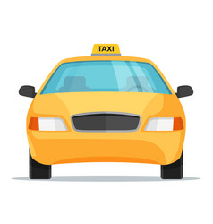 flat design taxi car front view vector image
