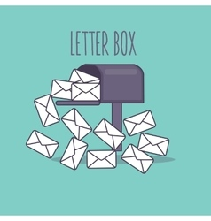 full inbox email mailbox letter box flat icon vector image vector image