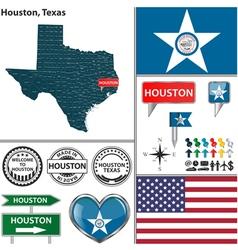 Houston Texas set vector image