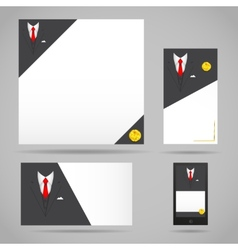 Male clothing suit card template vector image vector image