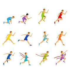 Multiethnic run man vector image