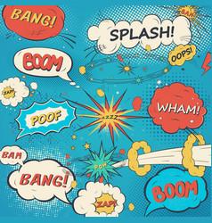 pattern comic speech bubbles in pop art style vector image
