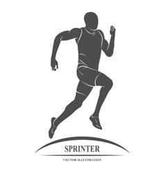 Running sprinter athlete vector image