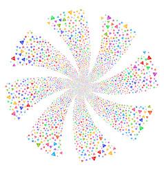warning fireworks swirl rotation vector image vector image