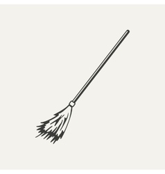 broomstick Black and white style vector image vector image