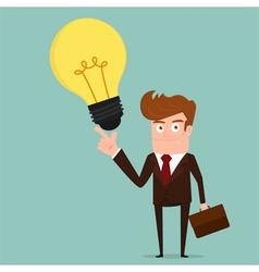 Businessman with big idea vector image