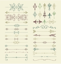 Colorful Hand Drawn Dividers Arrows vector image vector image