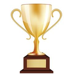 Gold Winner Trophy vector image vector image