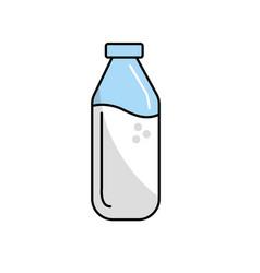milk bottle glass with calcium nutrients vector image
