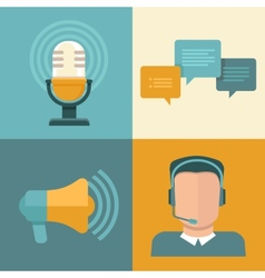 podcast concepts in flat style vector image