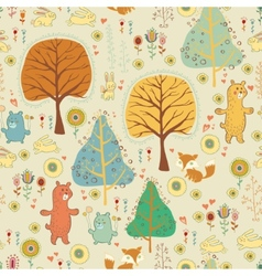 Seamless pattern in childish cartoon style vector image vector image
