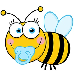 Baby Boy Bee Cartoon Mascot Character vector image vector image