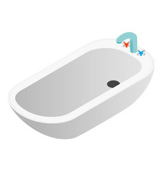 Bathtub isometric 3d icon vector image