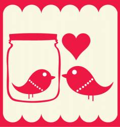bird couple vector image vector image