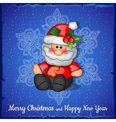Santa Claus on the snowflakes background vector image