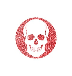 Scull icon with hand drawn lines texture vector image vector image