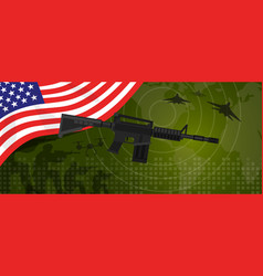 usa united states of america military power army vector image vector image