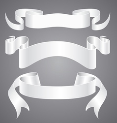 White Paper Ribbons vector image vector image