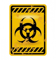 biohazard sign vector image vector image
