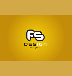 fs f s alphabet letter combination digit white on vector image vector image