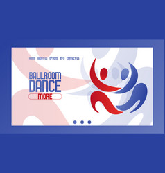 abstract dancing couple banner vector image