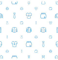 apparel icons pattern seamless white background vector image