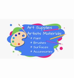 Art shop paints vector