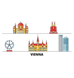 Austria vienna city flat landmarks vector