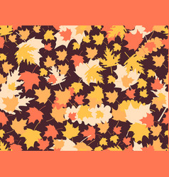 autumn leaves seamless patterns oak leaves maple vector image