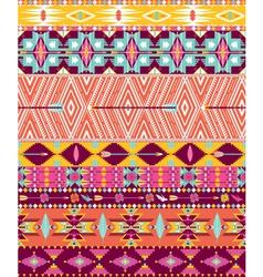 Aztec geometric seamless pattern vector image