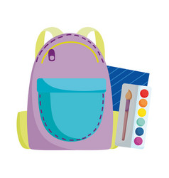 back to school backpack color palette vector image