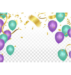 balloon party background with colorful flying vector image