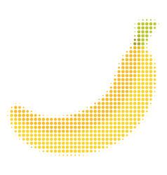 banana halftone icon vector image