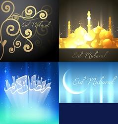 beautiful set of ramadan kareem festival vector image
