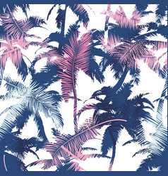 Beautiful trendy seamless exotic pattern with palm vector